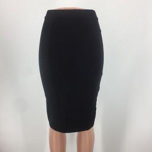 H&M Basic Black Knit Pencil Skirt